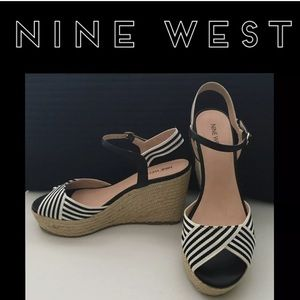 Nine West Stripe Wedges
